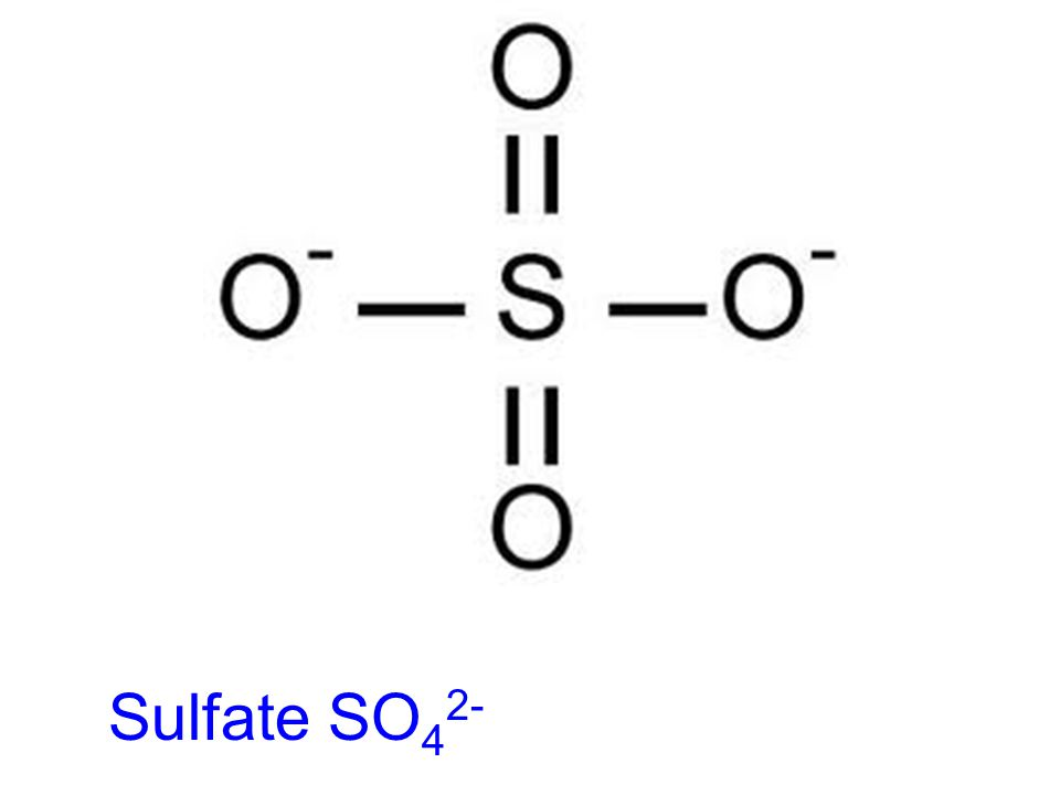 Sulfate SO42-
