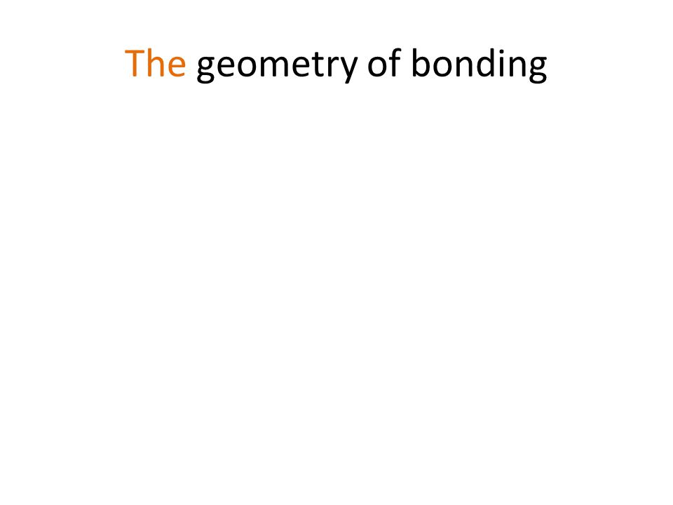 The geometry of bonding
