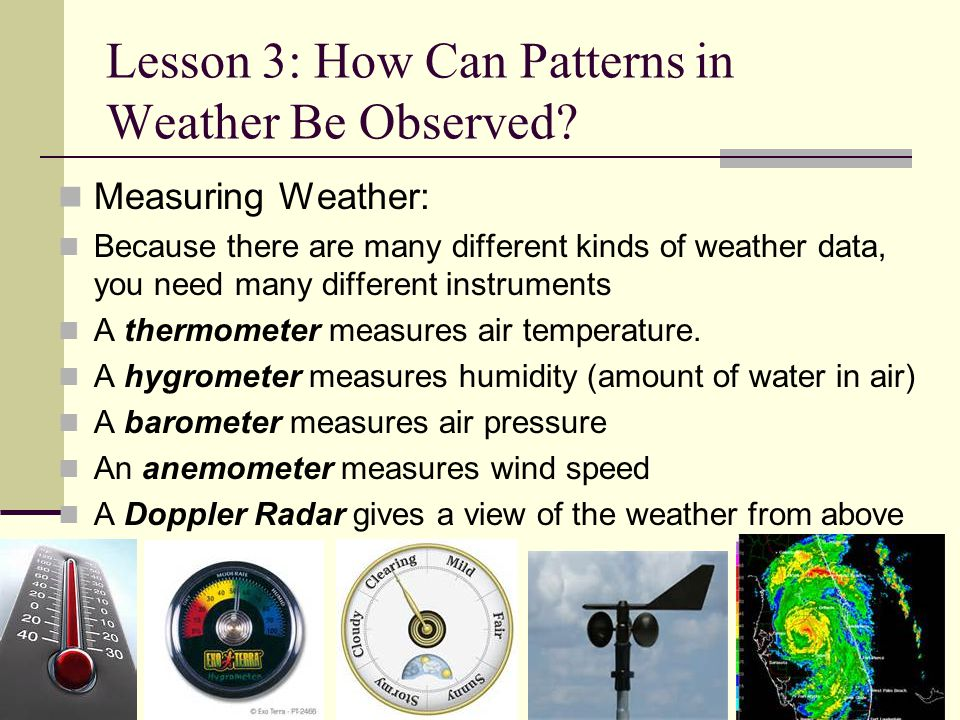 Lesson 3: How Can Patterns in Weather Be Observed