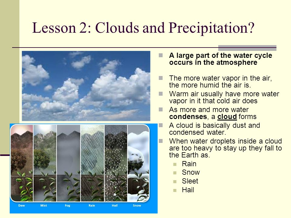Lesson 2: Clouds and Precipitation