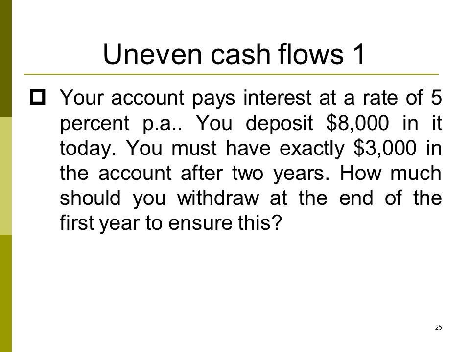 Uneven cash flows 1