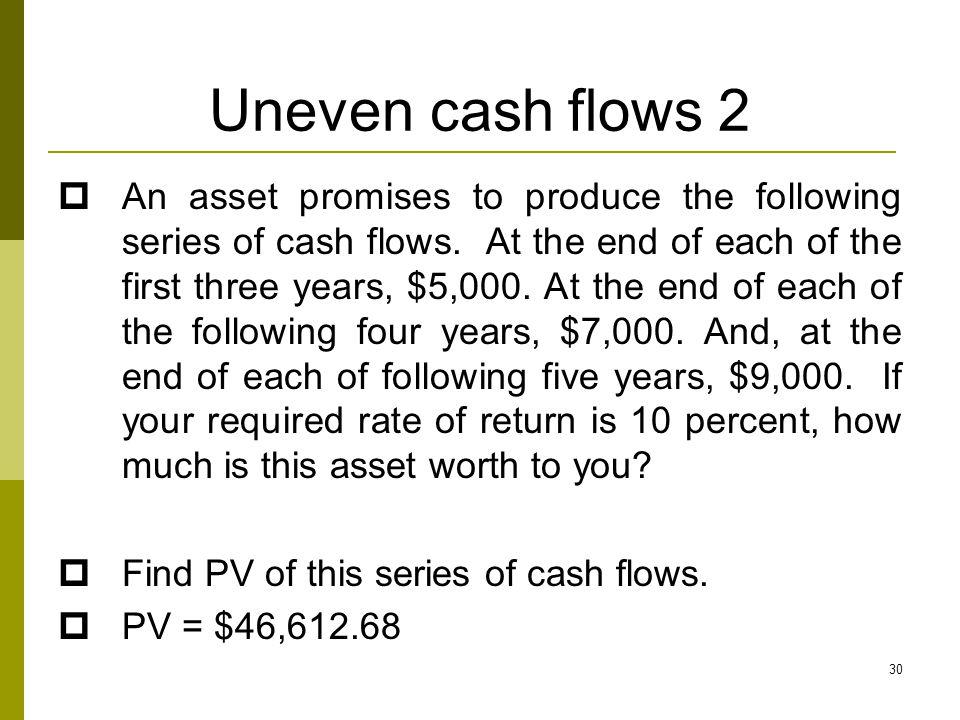Uneven cash flows 2