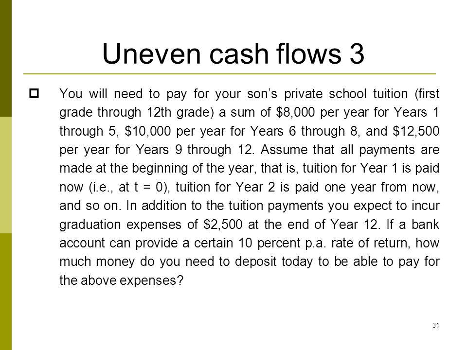 Uneven cash flows 3