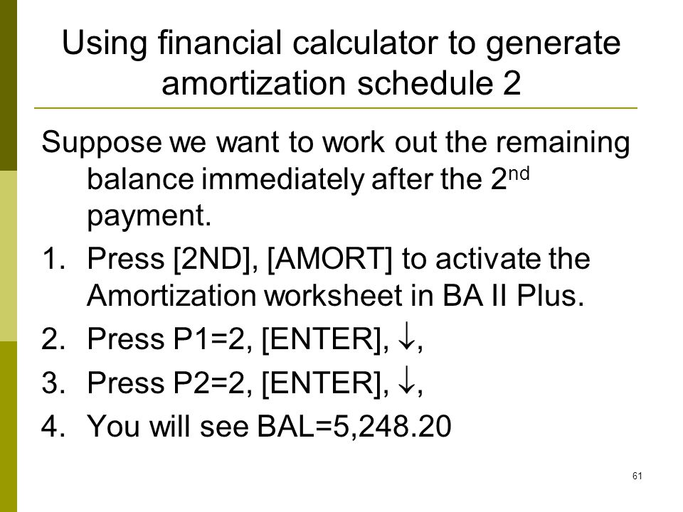 Chapter 5 Time Value of Money Advanced Topics ppt download – Amortization Worksheet