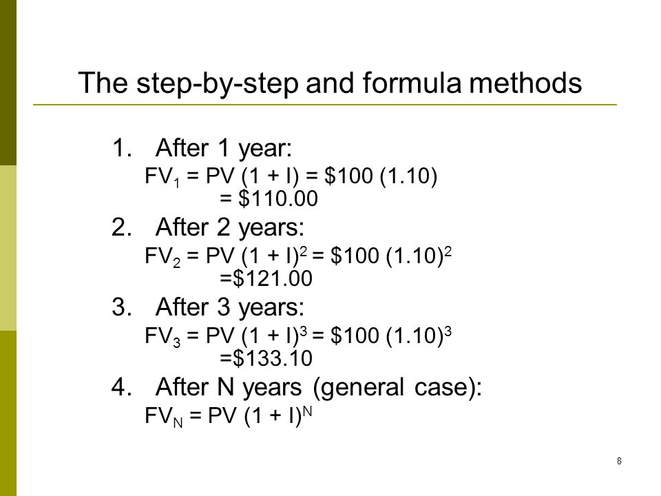 The step-by-step and formula methods