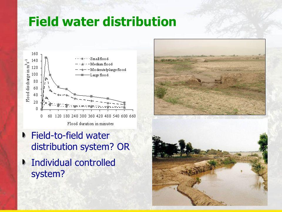 Field water distribution