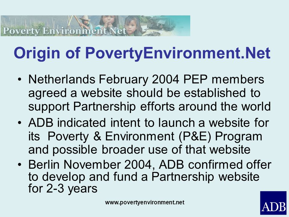 Origin of PovertyEnvironment.Net