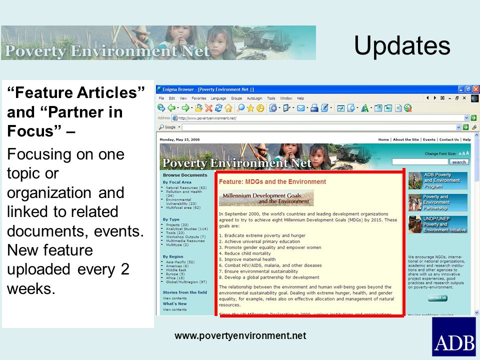Updates Feature Articles and Partner in Focus –
