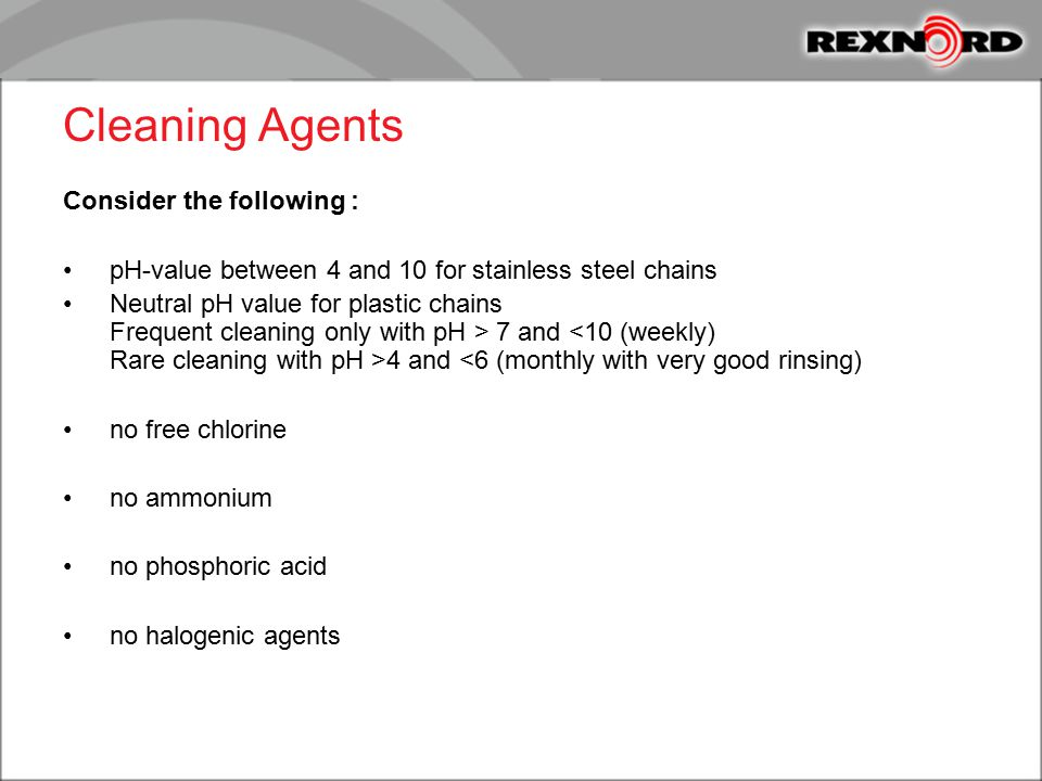 Cleaning Agents Consider the following :