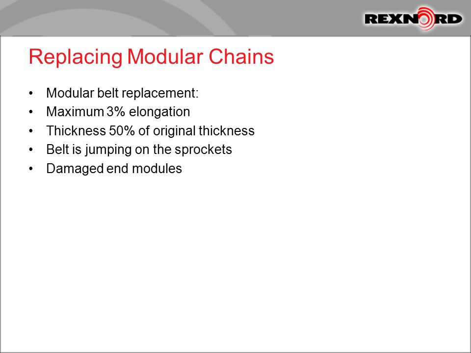 Replacing Modular Chains