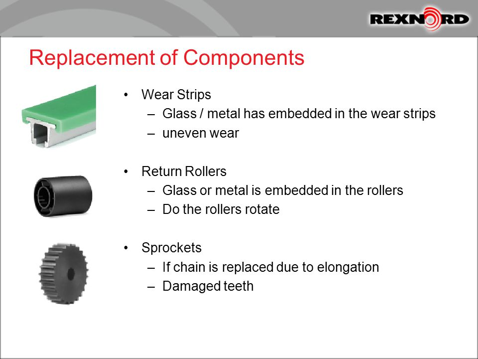 Replacement of Components