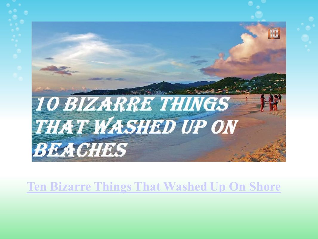 Ten Bizarre Things That Washed Up On Shore
