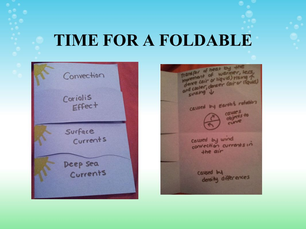 TIME FOR A FOLDABLE