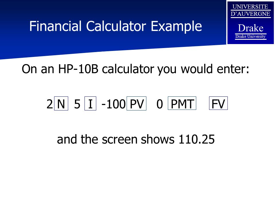 Financial Calculator Example