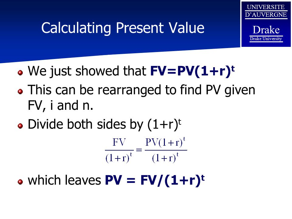 Calculating Present Value