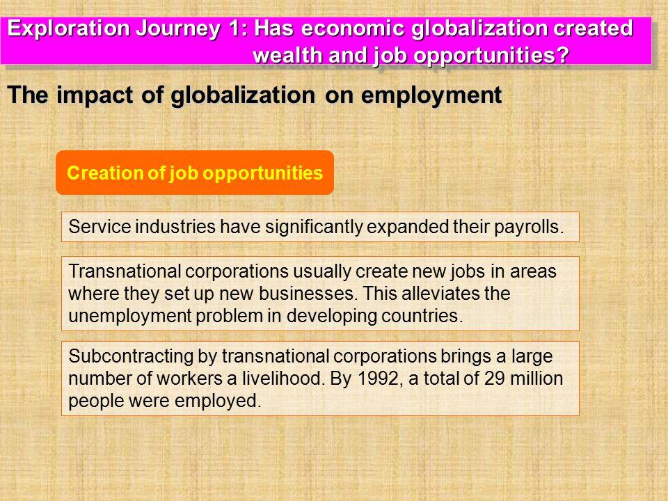 Creation of job opportunities