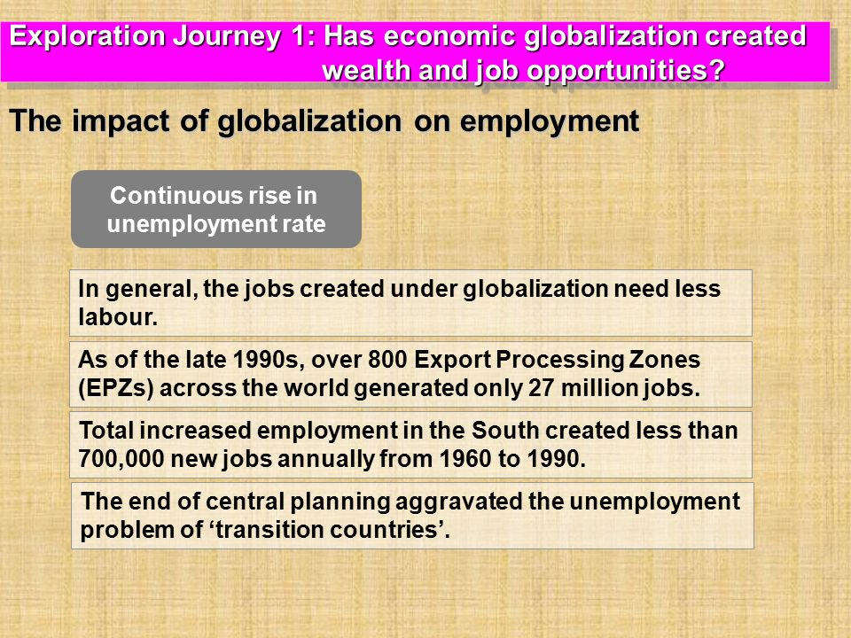 The impact of globalization on employment