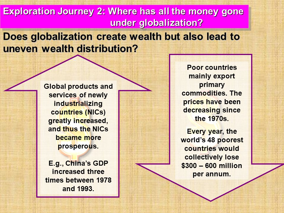 E.g., China's GDP increased three times between 1978 and 1993.