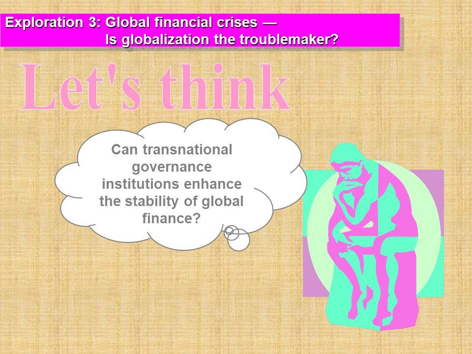 Let s think Exploration 3: Global financial crises —