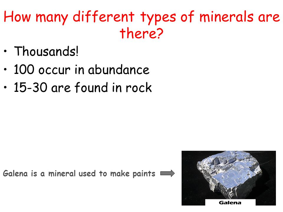 How many different types of minerals are there