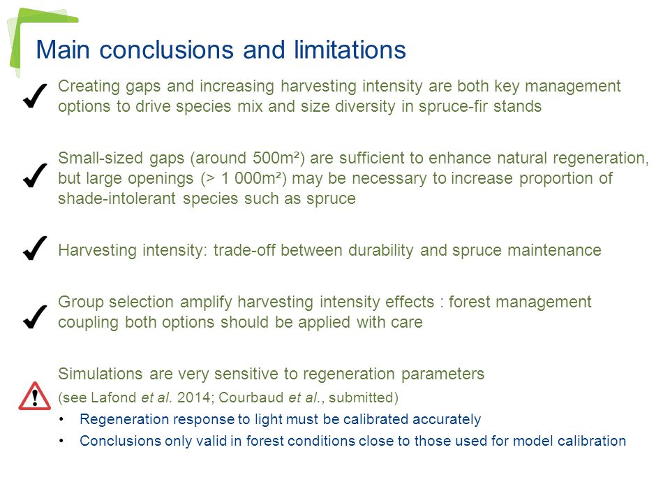 Main conclusions and limitations