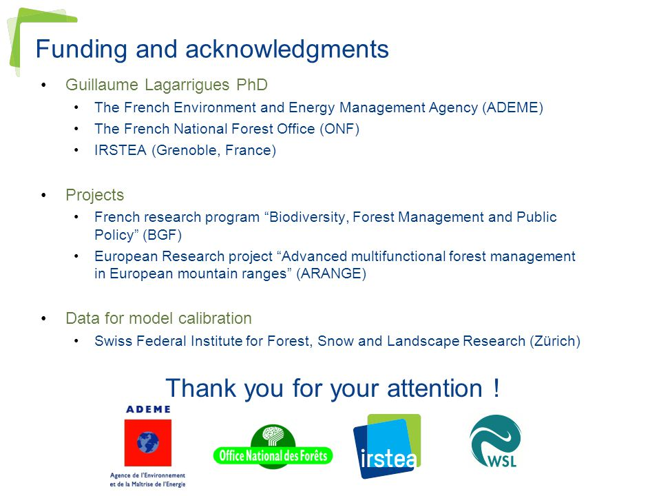 Funding and acknowledgments