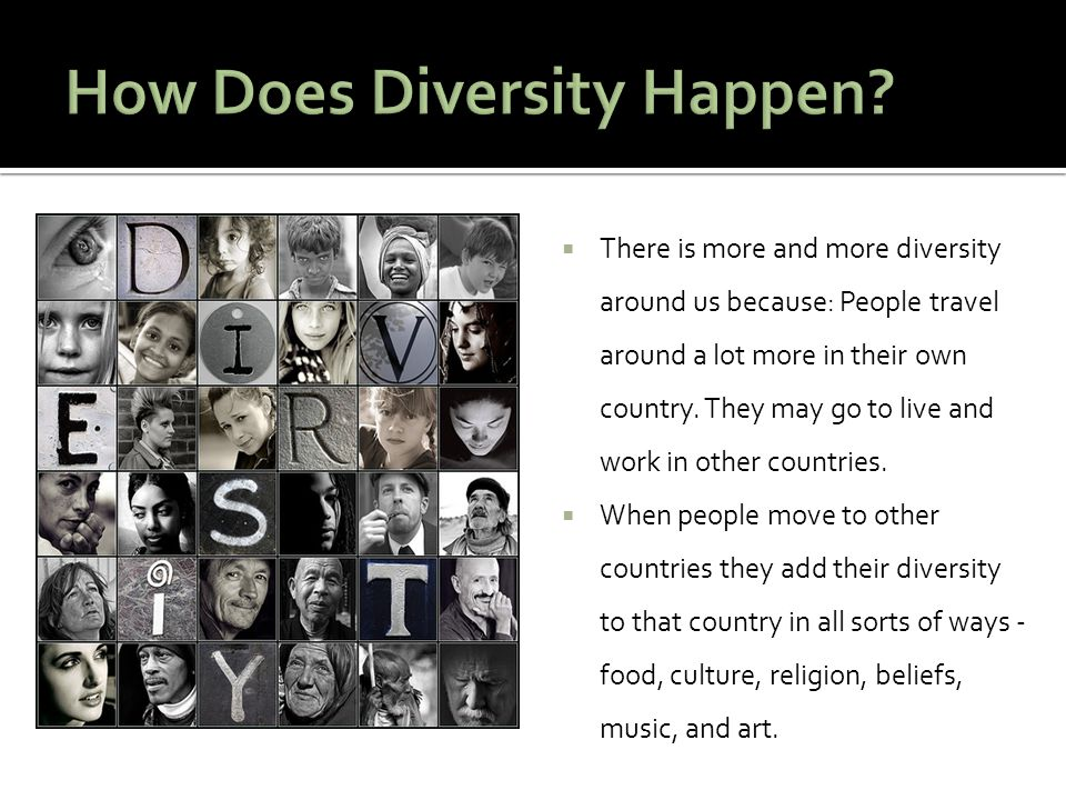 How Does Diversity Happen