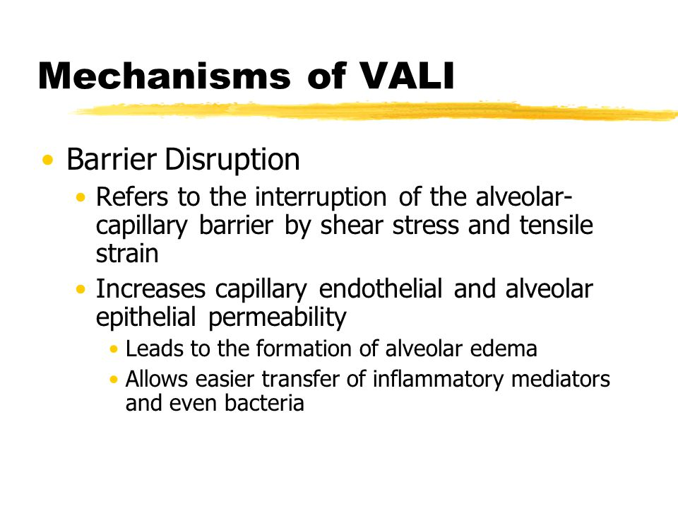 Mechanisms of VALI Barrier Disruption