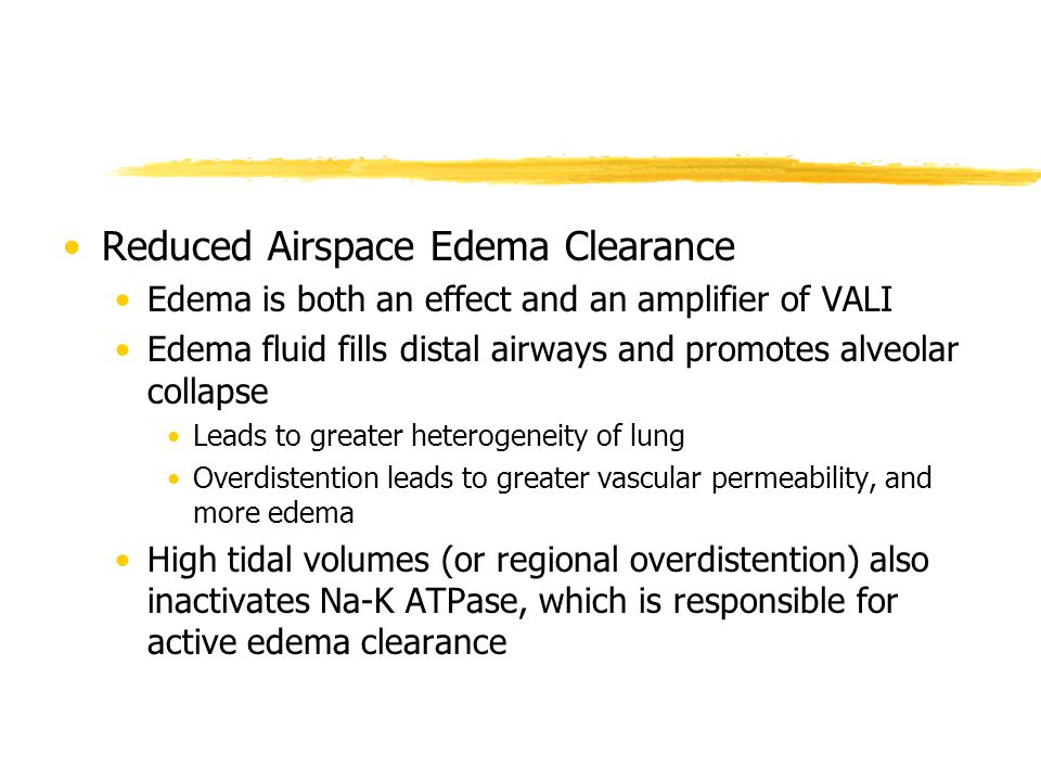 Reduced Airspace Edema Clearance