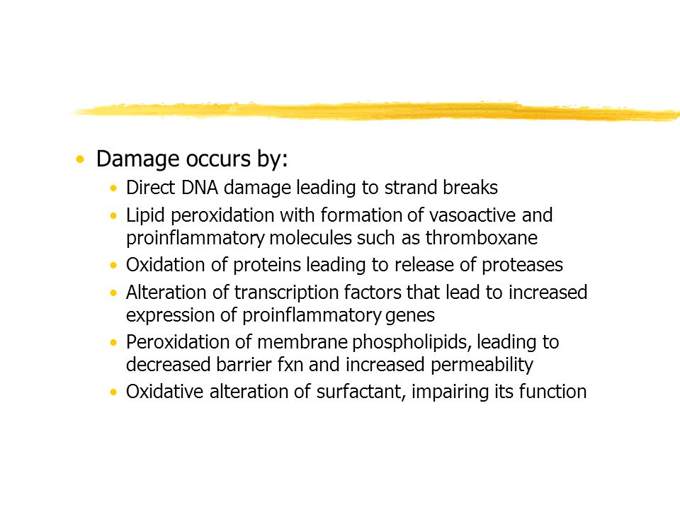 Damage occurs by: Direct DNA damage leading to strand breaks