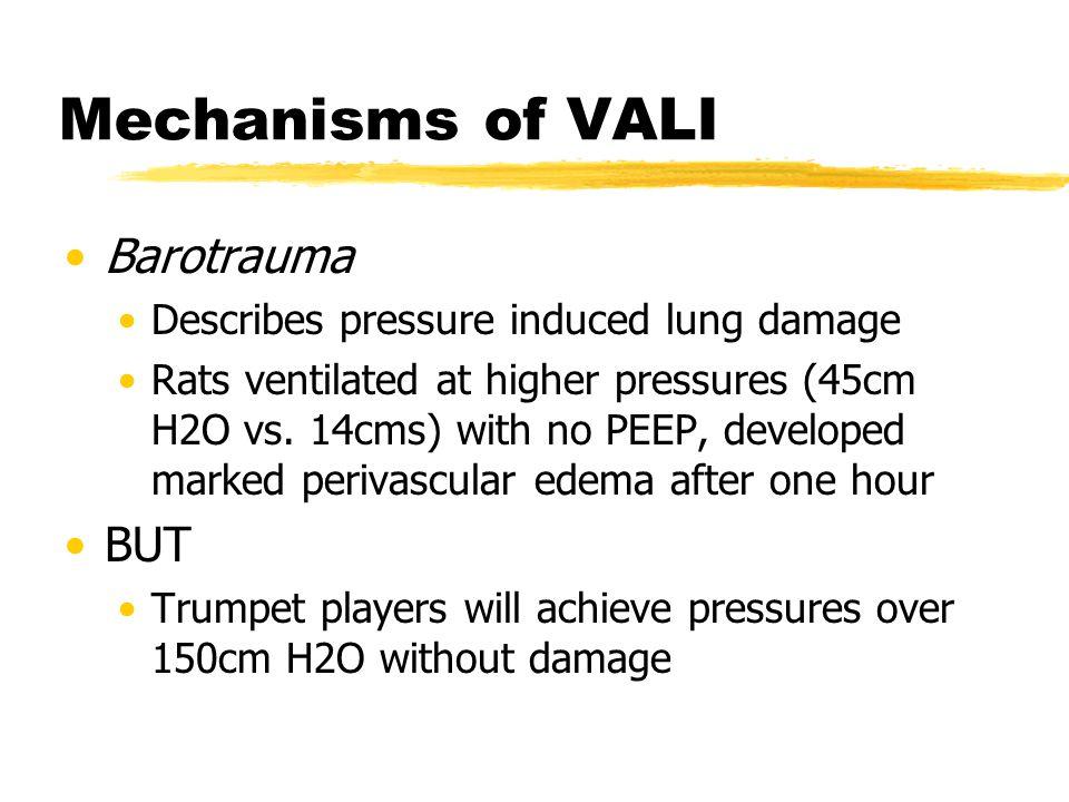 Mechanisms of VALI Barotrauma BUT