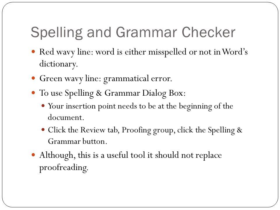 Spelling and Grammar Checker