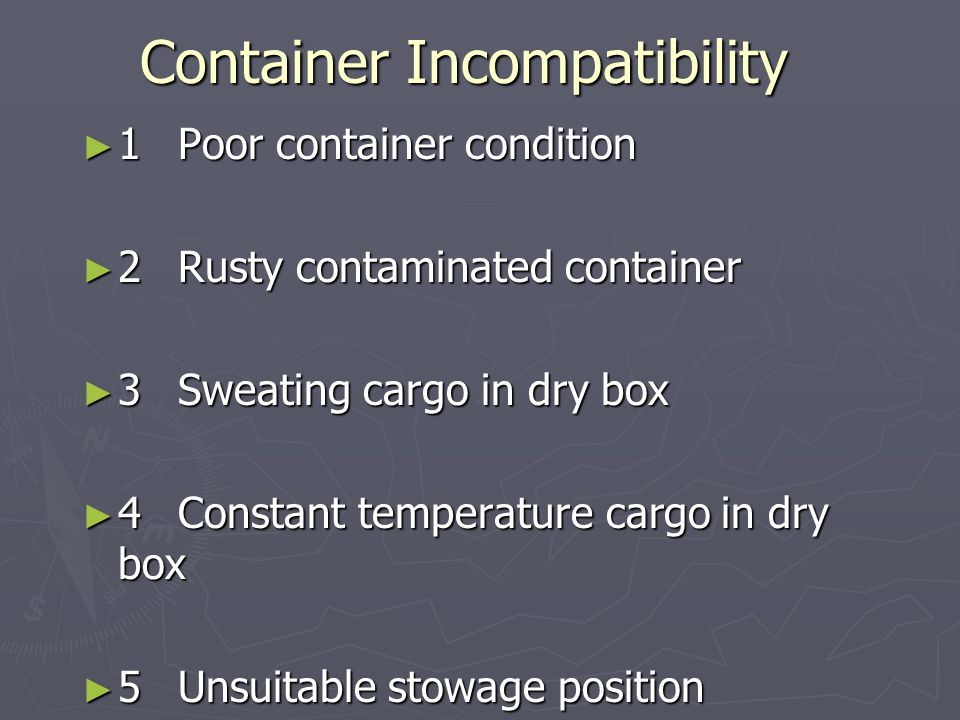 Container Incompatibility