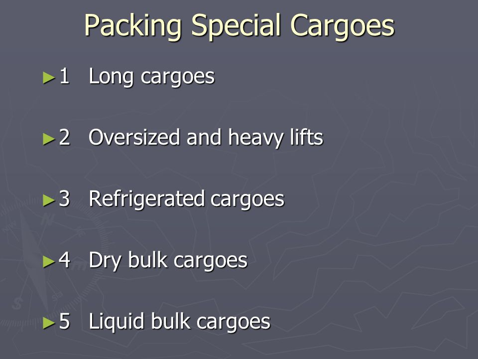 Packing Special Cargoes