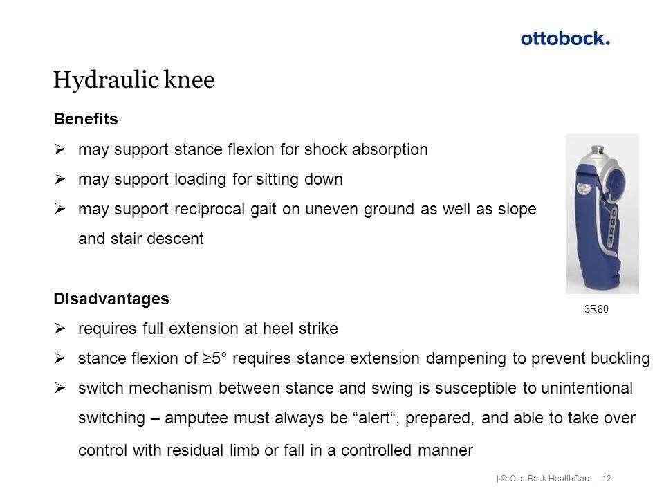 Hydraulic knee Benefits