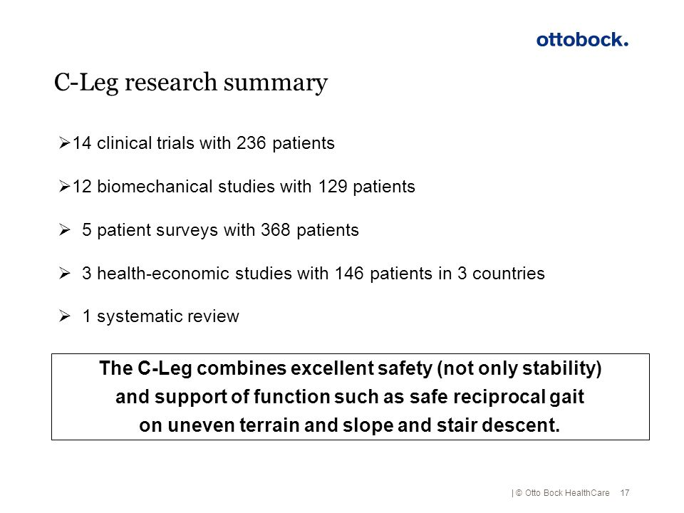 C-Leg research summary