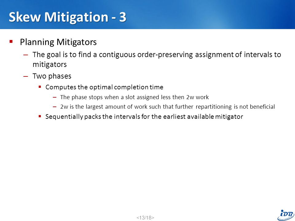 Skew Mitigation - 3 Planning Mitigators