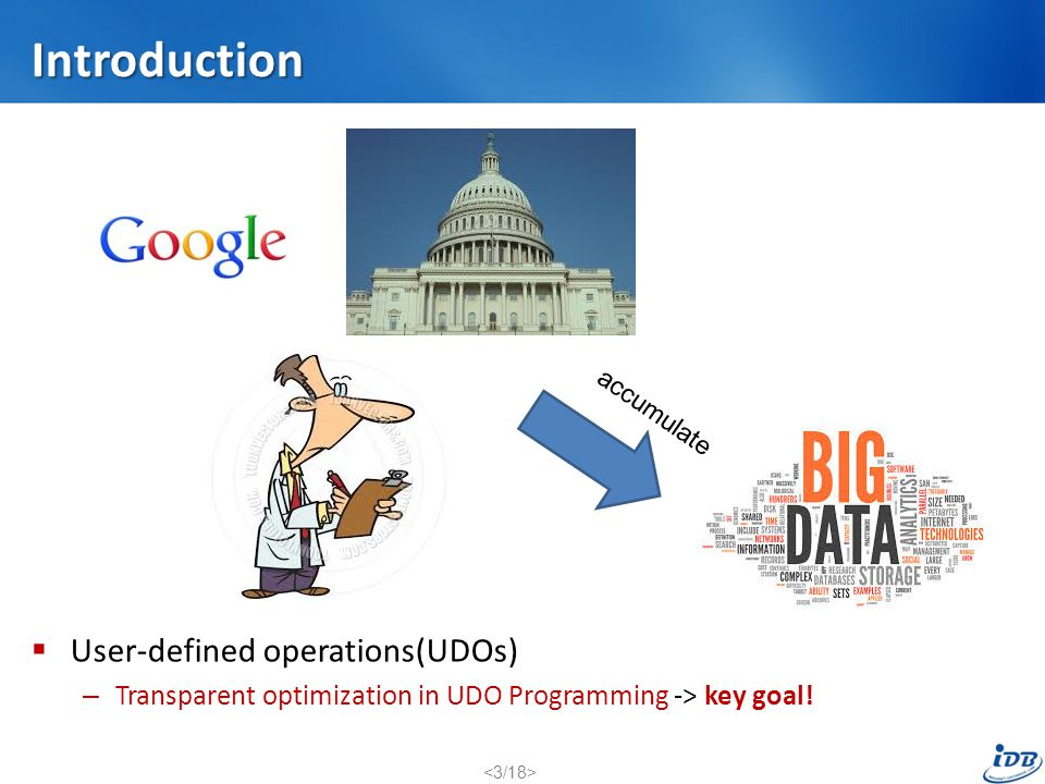 Introduction User-defined operations(UDOs)
