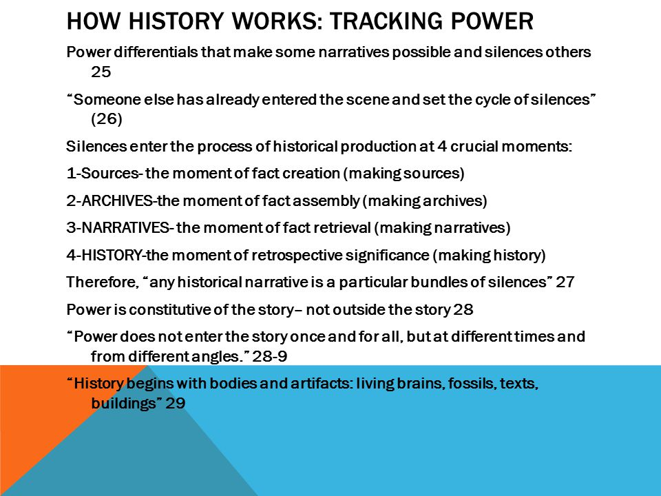 How History Works: Tracking Power