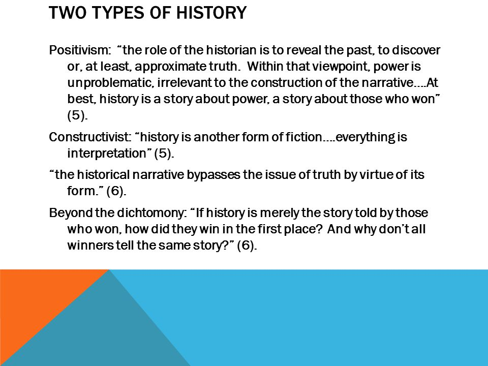 Two Types of History