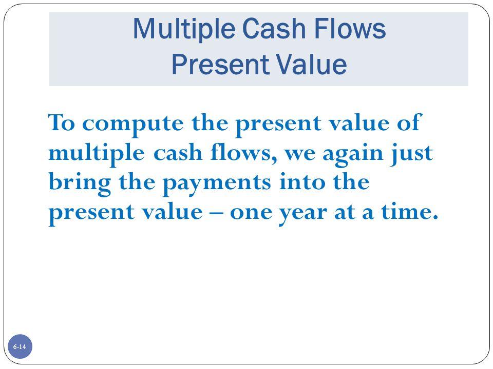 Multiple Cash Flows Present Value