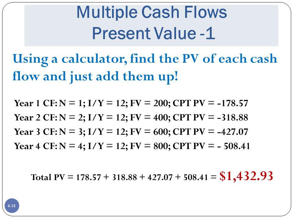 Multiple Cash Flows Present Value -1