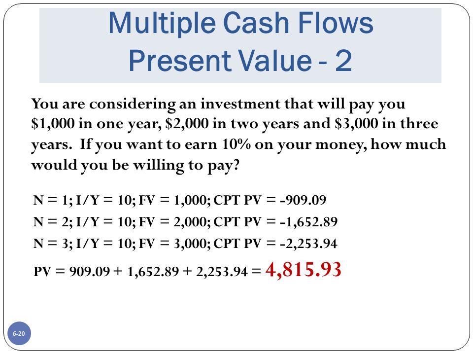 Multiple Cash Flows Present Value - 2