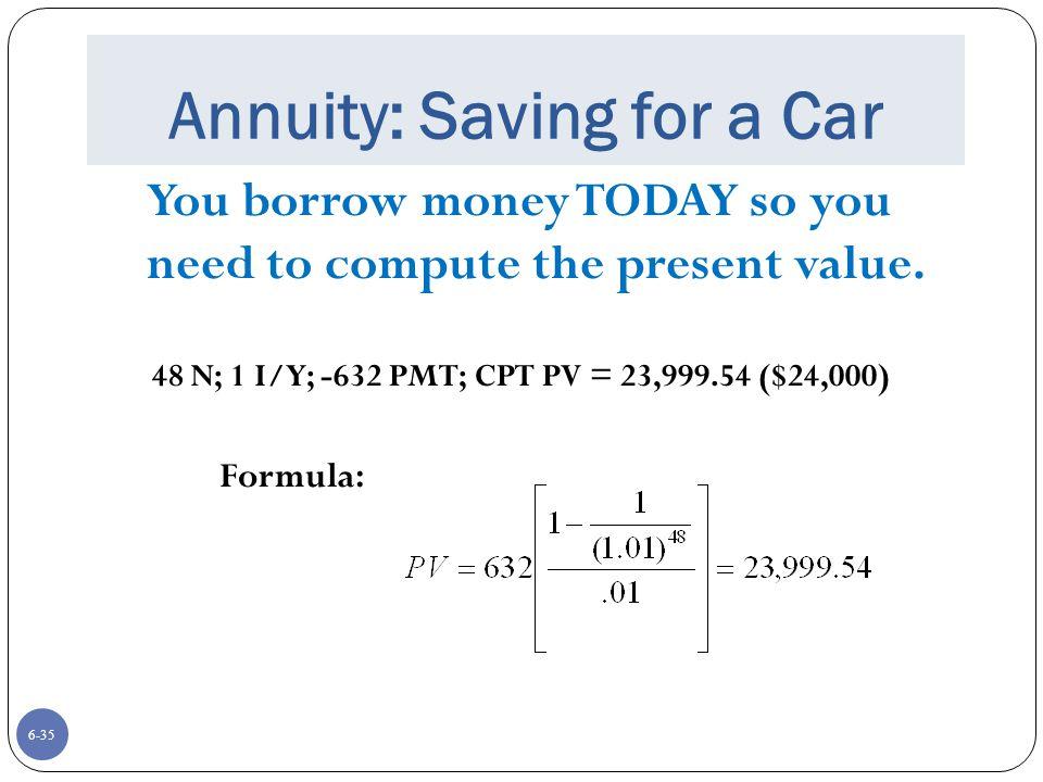 Annuity: Saving for a Car
