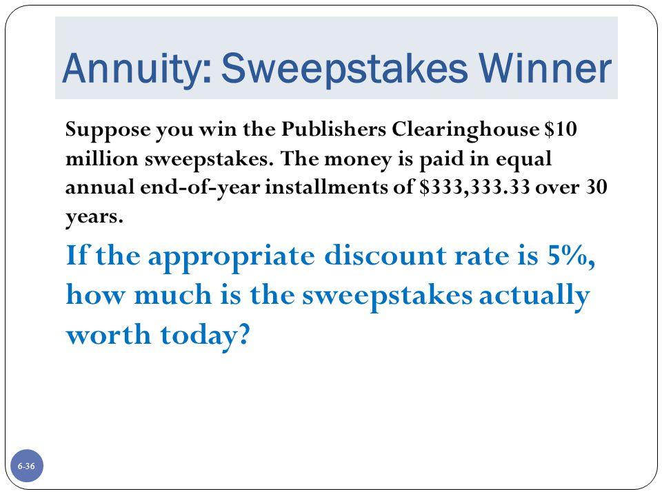 Annuity: Sweepstakes Winner