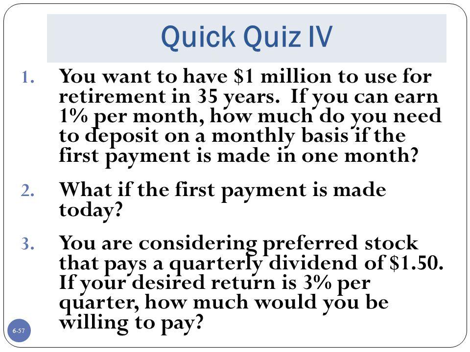 Quick Quiz IV