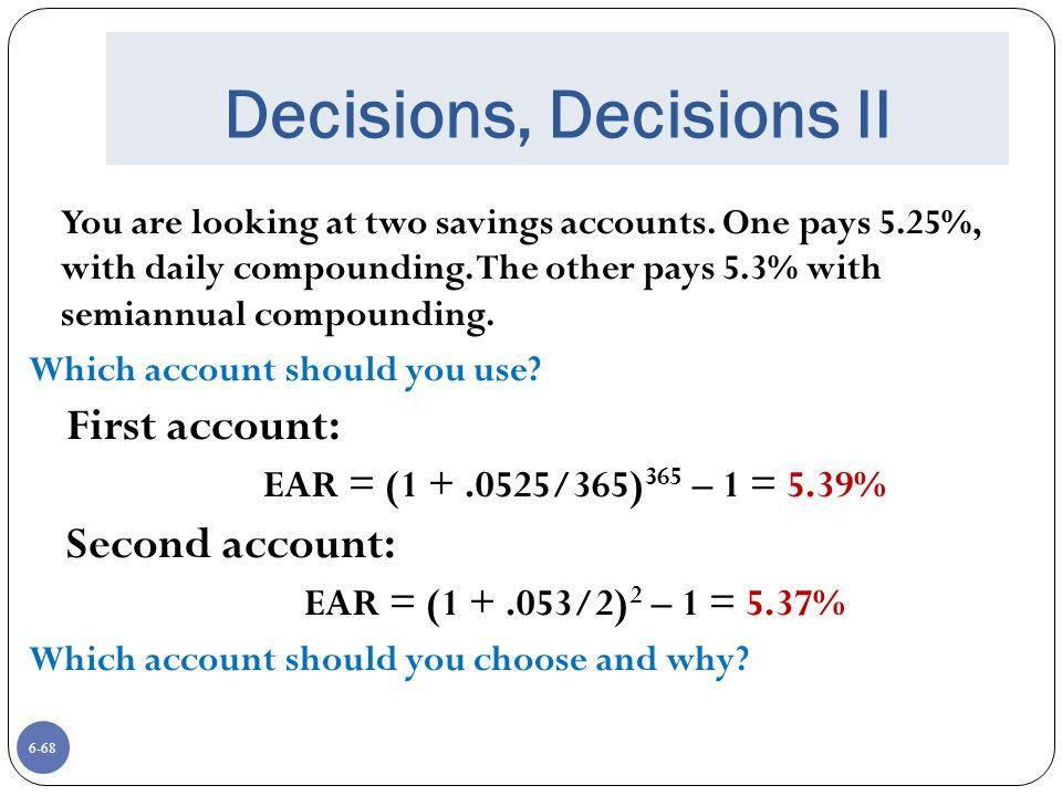 Decisions, Decisions II