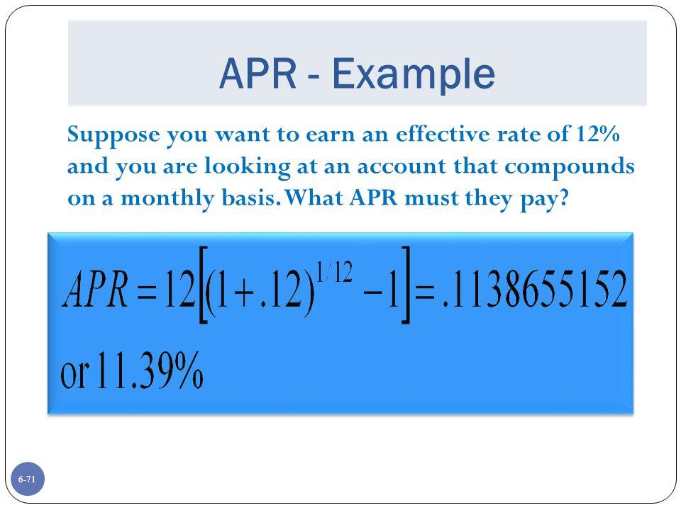 APR - Example