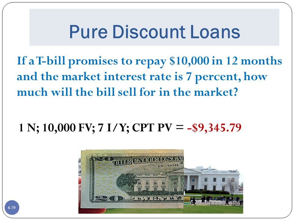 Pure Discount Loans