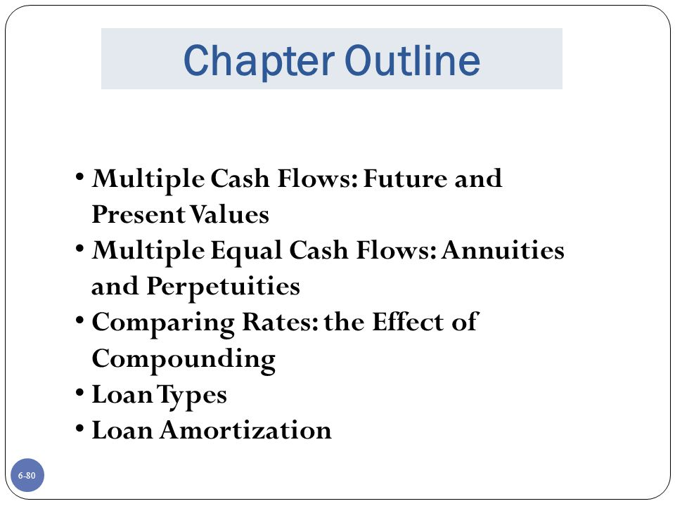 Chapter Outline Multiple Cash Flows: Future and Present Values